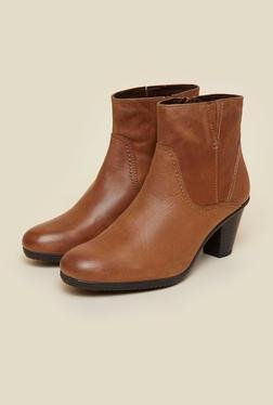 La Briza Tan Ankle Length Boots