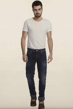 Jack & Jones Denim Dark Blue Solid Slim Fit Jeans