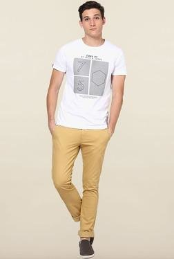 Jack & Jones White Printed Crew Neck T-Shirt - Mp000000000072326