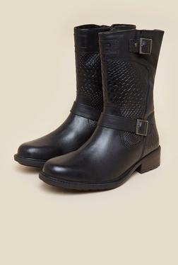 La Briza Black Knee Length Cowboy Boots - Mp000000000072382
