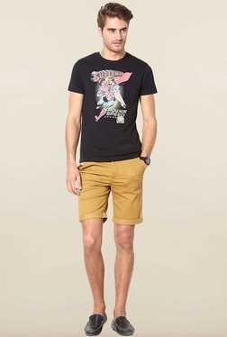 Jack & Jones Black Cotton Crew Neck T-Shirt