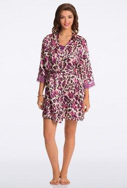 Pretty Secrets Purple Animal Print Robe