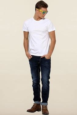 Jack & Jones White Solid Crew Neck T-Shirt - Mp000000000073414