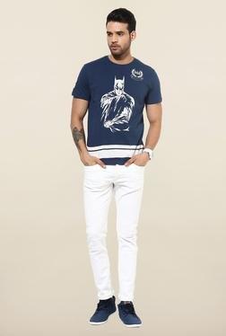 Jack & Jones White Distressed Slim Fit Jeans