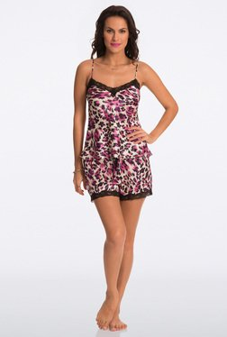 Pretty Secrets Purple Animal Print Cami & Shorts Set