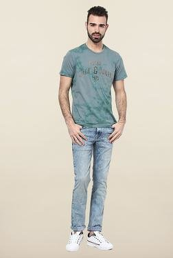 Jack & Jones Blue Short Sleeves Printed T-Shirt