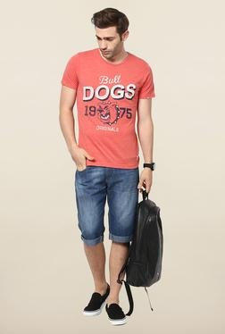 Jack & Jones Red Round Neck Slim Fit T-Shirt - Mp000000000075428