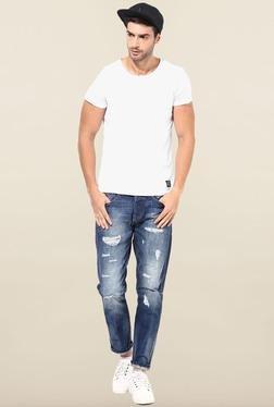 Jack & Jones Blue Distressed Slim Fit Jeans
