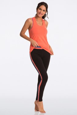 Pretty Secrets Black & Orange Navy Ultimate Workout Leggings
