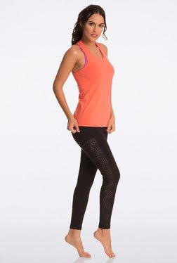 Pretty Secrets Black Lace Panel Leggings