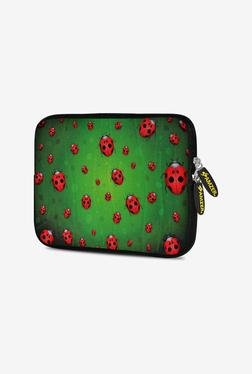 Amzer 7.75 Inch Neoprene Sleeve - Green Lady Birds