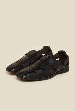 Buckaroo Fisher Black Leather Sandals