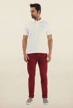 Shapes Wine Solid Slim Fit Chinos