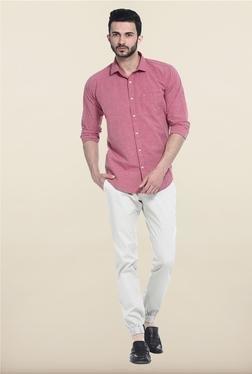 Basics Maroon Solid Casual Shirt - Mp000000000082104