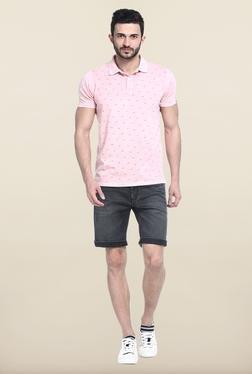 Basics Black Solid Casual Shorts