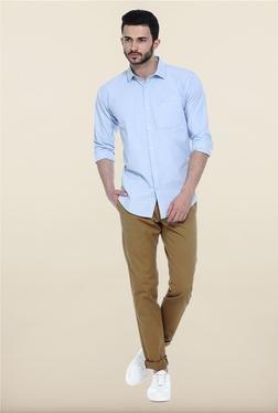 Basics Maroon Solid Casual Shirt