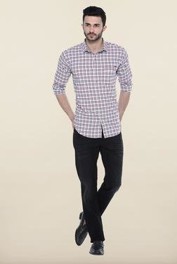 Basics Red Checks Slim Fit Casual Shirt