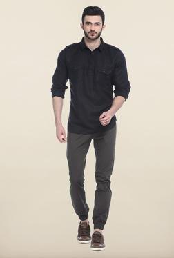 Basics Black Solid Casual Shirt