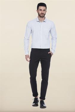 Basics Blue And White Checks Casual Shirt - Mp000000000082722