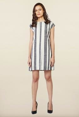 AND Black & White Stripes Casual Dress
