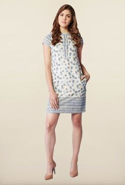 AND Off-White Printed Shift Dress