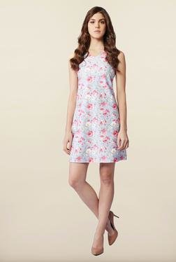 AND Blue Floral Print Casual Dress