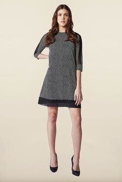 AND Black Polka Dots Casual Dress