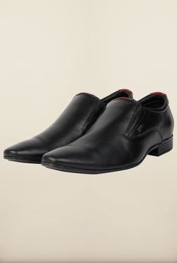 Lee Cooper Black Leather Slip-on Formal Shoes - Mp000000000083374