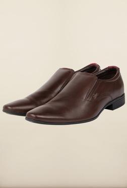 Lee Cooper Brown Leather Slip-on Formal Shoes