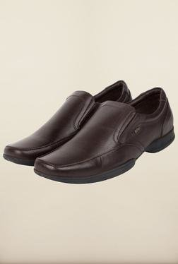 Lee Cooper Brown Leather Slip-on Formal Shoes - Mp000000000083537