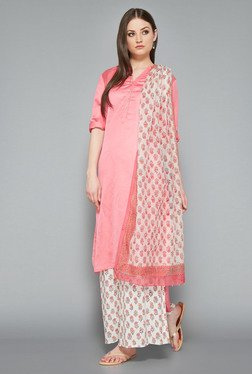Zuba Pink High Low Long Kurta
