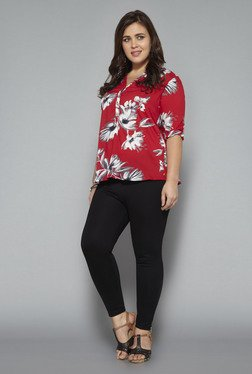 Gia Red Floral Print Top