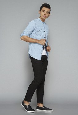 Nuon by Westside Blue Denim Casual Shirt