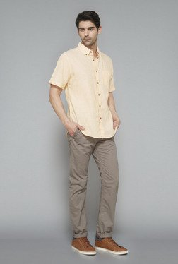 Westsport Mens Grey Solid Trouser