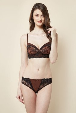 Little Lacy Black Embroidered Lingerie Set