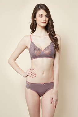 Little Lacy Brown Lace Lingerie Set