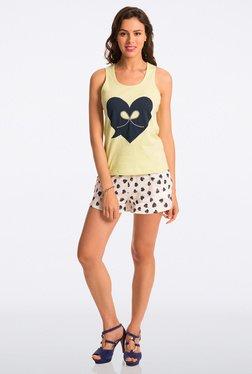Pretty Secrets Lime & White Heart Print Shorts Set