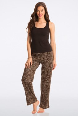 Pretty Secrets Brown Animal Print Pyjama