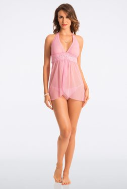 Pretty Secrets Candy Pink Lace Babydoll