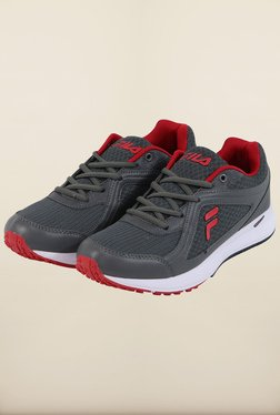 Fila Vannozzo Grey & Red Running Shoes