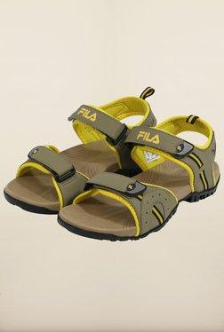 Fila Mafalda Beige & Yellow Floater Sandals