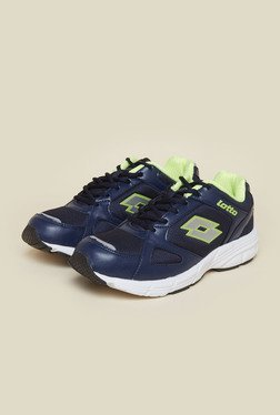 Lotto Omega II Navy & Green Running Shoes