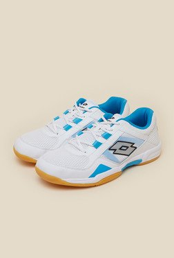 Lotto Jumper VI White & Blue Indoor Court Shoes
