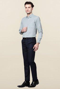 Peter England Green Checks Slim Fit-Shirt