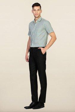 Peter England Blue Cotton Regular Fit Formal Shirt