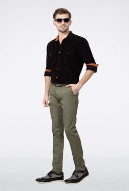 Allen Solly Black Solid Casual Shirt