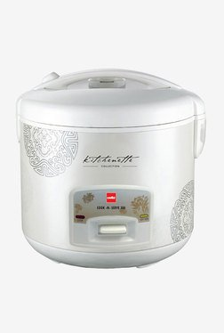 Cook-N-Serve 300 Rice Cooker (1000W, 2.2 Ltr, White)