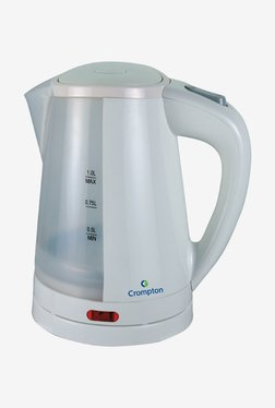 Crompton Cordless 1.0 Litre II Electric Water Kettle (White)