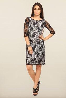 Avirate Black Lace Shift Dress