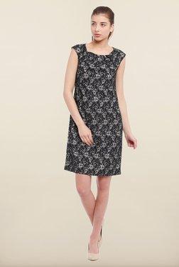 Avirate Black Printed Shift Dress